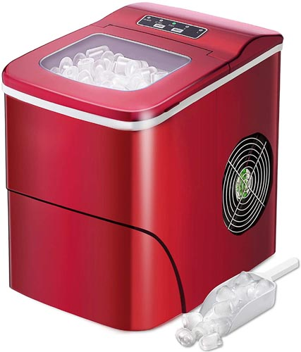 AGLUCKY Ice Maker Machine for Countertop, Portable Ice Cube Makers